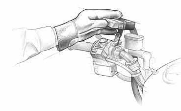 Работа с лебедкой на квадроцикле. (4)